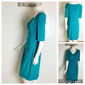 Ralph Lauren 14 Turquoise Blue Night Out Dress